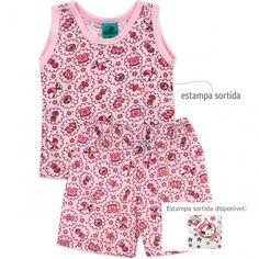 Pijama para bebê menina de verão, da Papa's Wave. Pijama para recém nascido e bebês maiores, muito confortável e fresquinho.