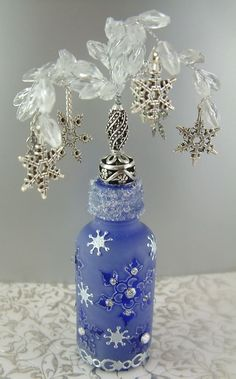 Artfully Musing: Frosting and Other Decorative Techniques for Altering Bottles– Tutorial