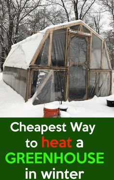 Cheapest Way To Heat A Greenhouse. How to Heat a Greenhouse in Winter for Free, Heating a greenhouse is expensive, these simple steps to heat your greenhouse. Diy Greenhouse Plans, Heating A Greenhouse, Greenhouse Farming, Simple Greenhouse, Winter Greenhouse, Outdoor Greenhouse, Backyard Greenhouse, Greenhouse Growing, Mini Greenhouse