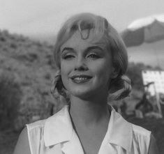 """Marilyn on the set of """"The Misfits"""", 1960."""