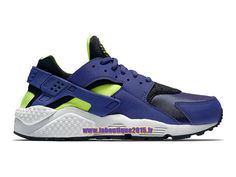 Nike Air Huarache Run - Chaussure Nike Running Pas Cher Pour Homme Bleu  Royal Profond  3f4b3d2423e0