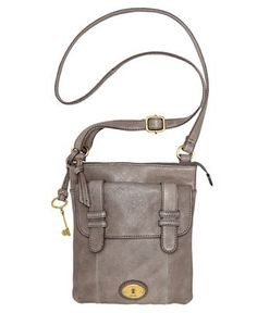 Fossil Carson Top Zip Crossbody Bag in Charcoal