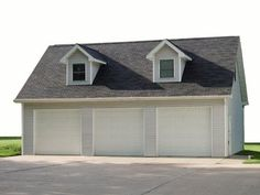24x24 story and a half garage stained board and batten for Two and a half car garage