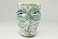 Cup made by ceramic artist Michael Corney. Clay People, Ceramic Artists, Objects, Ceramics, Contemporary, Face, Ceramica, Pottery, The Face