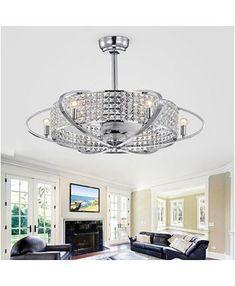 Ceiling Fan Chandelier, Ceiling Lights, Chandeliers, Crystal Ceiling Light, Wall Lights, Home Lighting, Modern Lighting, Lighting Ideas, Ceiling Fan In Kitchen