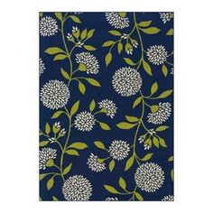 "Caspian 8327L 5'3"" x 7'6"" Blue Area Rug 