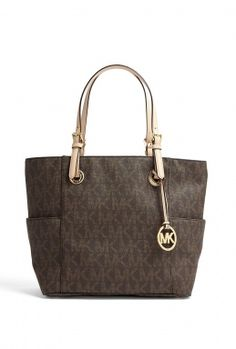 Jet Set East West Signature Tote by Michael by Michael Kors