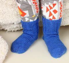 Ribbed Toddler Socks | Learn how to make an adorable pair of knit socks for tiny feet.