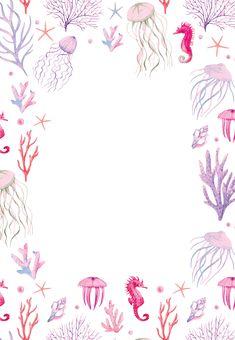 Under The Sea – Birthday Invitation Template (free) Happy Birthday Funny, Baby Girl Birthday, Happy Birthday Cards, Card Birthday, Funny Happy, Birthday Greetings, Birthday Ideas, Free Birthday, Birthday Banners