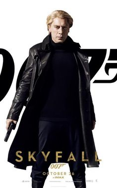 UK Skyfall poster for Silva played by Javier Bardem in the latest 007 movie. #skyfall #007 #jamesbond
