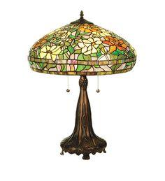 Meyda Tiffany 50814 Tiffany Peony Table Lamp