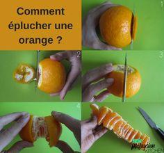 Comment éplucher une orange -