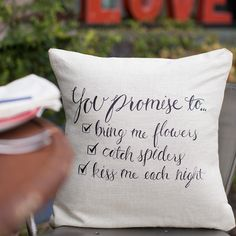 I Promise Pillow Set (2) |