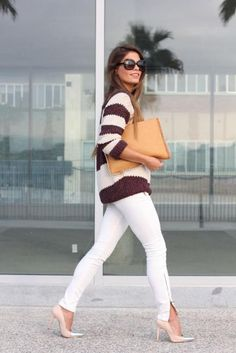 We love how Jessie of Seams for a Desire finished this look with tan accessories. #Fashion #SpringStyle