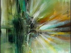 Einfach Malen-Abstract-Easy Painting-Green Glow - YouTube