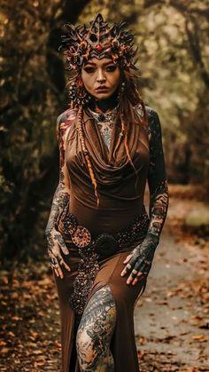 Dreadlocks Are hair loss treatments just one big scam? Sexy Tattoos, Body Art Tattoos, Girl Tattoos, Lady, Fantasy Photography, Tribal Fusion, Fantasy Girl, Inked Girls, Portraits