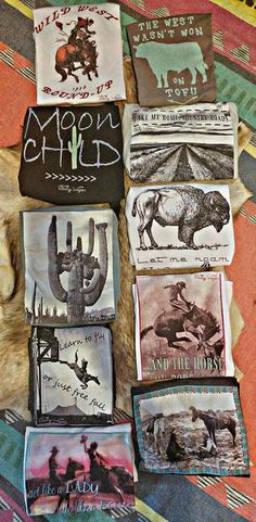 Western fashion.  Country gypsy shirt. Graphic T-Shirts from The Wacky Wagon. Wild hearts can't be broken.