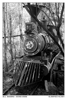 Locomotive at Gulliver's Kingdom, an abandoned Gulliver's Travels-themed themepark 2.5 hours out of Tokyo.