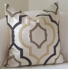 Love the fabric and colors for great room accentsHome