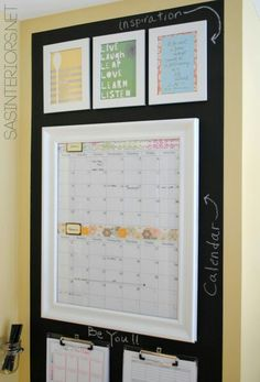 Motivation and a calendar. I need that