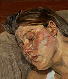 Directional brush strokes. Lucien Freud