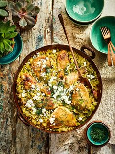 Preserved-lemon chicken: Orzo is a pasta shaped to look like grains of rice. Preserved lemons work wonderfully in this Mediterranean dish Roast Chicken Recipes, Chicken Thigh Recipes, Beef Recipes, Kitchen Recipes, Cooking Recipes, Healthy Recipes, Healthy Eats, Preserved Lemon Chicken Recipe, Lemon Chicken