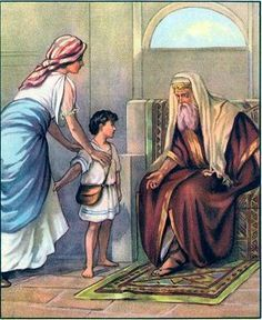 Hannah took Samuel to the house of the Lord.
