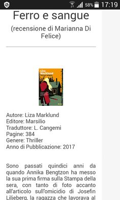 http://thrillernord.it/ferro_e_sangue.html  https://marisullealidellafantasia.blogspot.it/2017/03/ferro-e-sangue-recensione.html