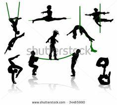 circus trapeze silhouette - Google Search
