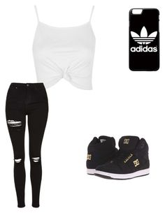 """Untitled #185"" by mule2012 ❤ liked on Polyvore featuring Topshop, DC Shoes and adidas"