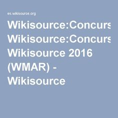 Wikisource:Concurso Wikisource 2016 (WMAR) - Wikisource