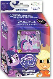 Amazon.com: My Little Pony Enterplay Collectible Card Game Twilight Sparkle & Applejack Theme Deck [59 Cards]: Toys & Games