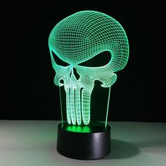 Led Lamps Gentle Acrylic Amazing Design 3d Skull 7 Color Change Led Rgb Illusion Home Bedside Mood Atmosphere Usb Remote Light Holiday Kids Gift