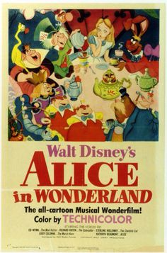 Walt Disney's Alice in Wonderland original poster