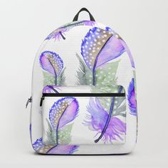 Buy purple lilac boho feathers Backpack by pattern-love. Worldwide shipping available at Society6.com. Just one of millions of high quality products available. Fashion Bags, Fashion Backpack, D Craft, Designer Backpacks, Purple Lilac, One Size Fits All, Purse Wallet, Feathers, Purses And Bags