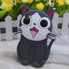 Gray 3D Lovely Cat Silicone Soft Back Cover Case for Apple iPod Touch 4 4G | eBay