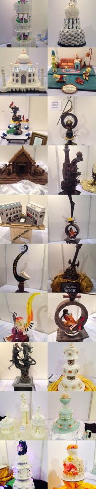 Cake displays Sugar display Chocolate display