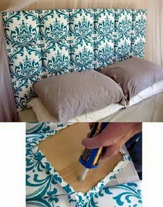 Very clever quilted headboard! 54 DIY Headboard Ideas to Make Your Dream Bedroom - Snappy Pixels Barnes Barnes Barnes Barnes Barnes Barnes Jung Home Projects, Home Crafts, Diy Home Decor, Diy Headboards, Headboard Ideas, Headboard Cover, Upholstered Headboards, Beach Headboard, Dream Bedroom