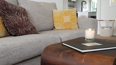 Beautiful soy candle adding sophistication and personality to a room.