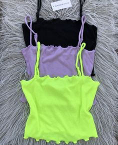 This cami features a lighweight fabric, you will beat the heat in style. Go bold with neon lime or flirty with subtle lavender, or go for black for a timeless classic look. Cropped tank top Mannequin is wearing a size Small Cute Lazy Outfits, Cute Swag Outfits, Trendy Outfits, Girls Fashion Clothes, Teen Fashion Outfits, Tube Top Outfits, Pulls, Aesthetic Clothes, Jeans