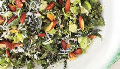 The BEST way to introduce someone to kale and brussels sprouts! Kale and Brussels Sprout Salad - Bon Appétit Kale Brussel Sprout Salad, Shredded Brussel Sprouts, Sprouts Salad, Brussels Sprouts, Kale Slaw, Broccoli Salad, Kimchi, 21 Day Fix, Best Salads Ever