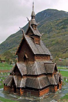 Heddal Stave Church in Borgund, Norway.