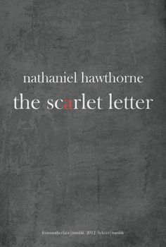 """Nathaniel Hawthorne's """"The Scarlet Letter"""" - Book Cover Redesign"""