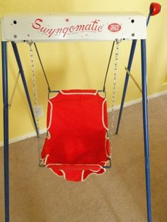 Graco Swyngomatic Vintage Antique Baby Swing......this doesn't look very safe now, does it? ha ha