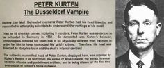 Peter Kürten (The Vampire of Düsseldorf). Committed a series of murders and sexual assaults #sexualcrime