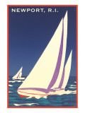 Newport, Rhode Island, Sailboat Graphics Affiches