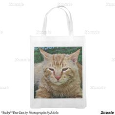 """""""Rudy"""" The Cat Reusable Grocery Bags"""
