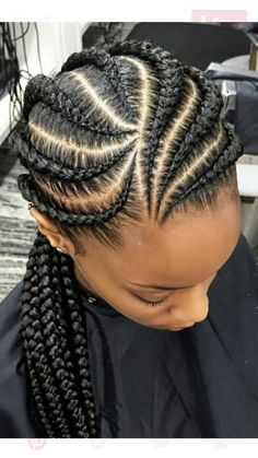 I hope you'd need one thing special for your beautiful female to represent otherwise to the alternatives instead of other kids. And for this, these five straightforward Braids Hairstyles for small ladies may be the simplest suggestions for you. Feed In Braids Hairstyles, Kids Braided Hairstyles, African Hairstyles, Girl Hairstyles, Cornrolls Hairstyles Braids, Hairstyles 2016, Medium Hairstyles, Classy Hairstyles, Black Ladies Hairstyles