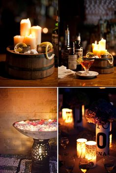 Decorar con velas los rincones de la boda, es una apuesta segura. Son románticas, transmiten encanto e iluminan de manera cálida y acogedora. Hoy algunas ideas.