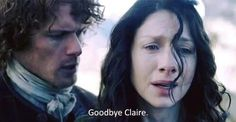 Jamie and Claire are saying goodbye